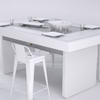 debuchy by toulet baby foot modern T22 blanc table